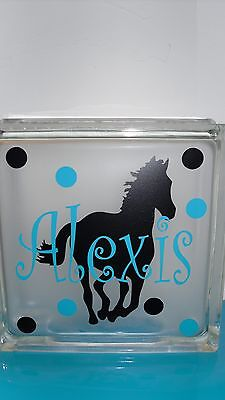 """Eiffel tower Paris with name Decal sticker for DIY 8/"""" Glass Block Shadow Box"""