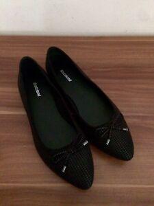 Details zu Schicke Spitze Ballerinas Mit Schleife 38 schwarz graceland flache Schuhe
