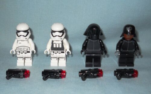 NEW LEGO 4 STAR WARS FIRST ORDER MINIFIGS WEAPONS STORM TROOPERS /& CREW 75132