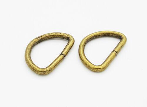 20-50mm Antique D Ring Bag Ring Buckles Leather Hand Bag Backpack Craft UK