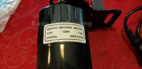 Sewing Machine Clockwise Reverse Motor /& Electronic Pedal 1.2 amp 120 watts  REV