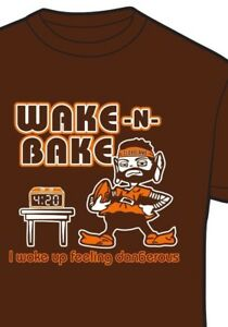 37b866bc Cleveland Browns WAKE AND BAKE 4:20 Baker Mayfield Shirt Wake up ...