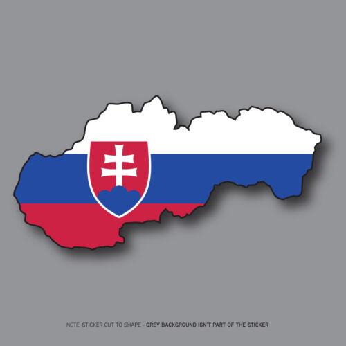 SKU2684 120mm x 60mm Slovak Slovakia Map Flag Slovensko Vinyl Sticker Bumper
