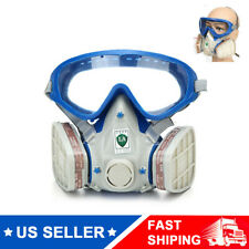 Double Filter Full Face Respirator Gas Mask Chemical Gas Protector Air Breathing