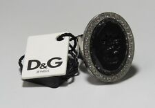 NEW DOLCE & GABBANA D&G DJ0163 SILVER FASHION CRYSTAL RHINESTONES RING SIZE 6 !!