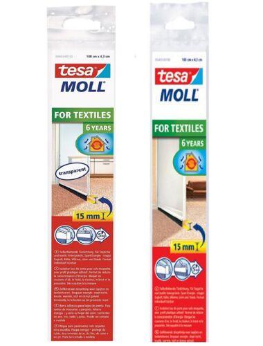 Tesa tesamoll STANDARD Türdichtschiene für Teppiche Textilböden Selbstklebend