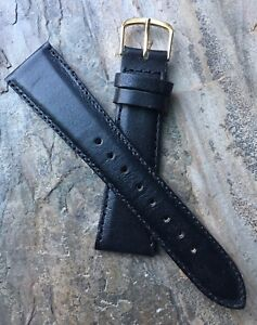 Rare-21mm-size-supple-stitched-padded-Norwegian-Calf-vintage-watch-band-1950s-60