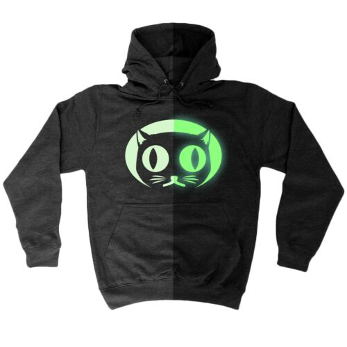 Funny hoodie Glow in the Dark Cat Face animal Hoodies Sweat à Capuche Pull Anniversaire