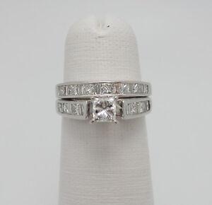 Zales Wedding Sets.Details About Zales 1 25ct Princess Cut Diamond Engagement Wedding Ring Bridal Set 14k Gold