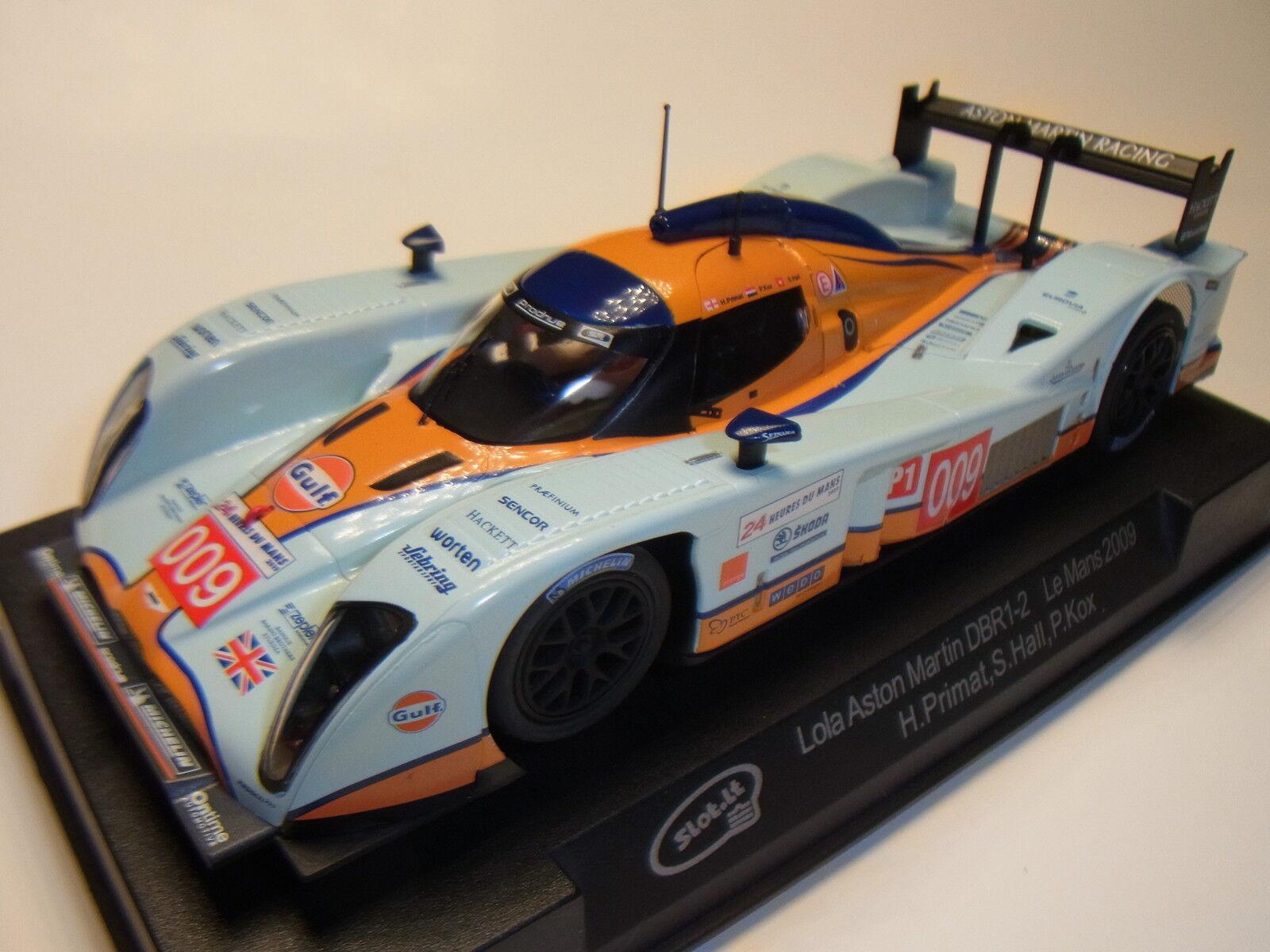 Slot  Lola Aston Martin DBR1-2 le Mans 2009  009 SICA31A Pista per Auto 1 3 2