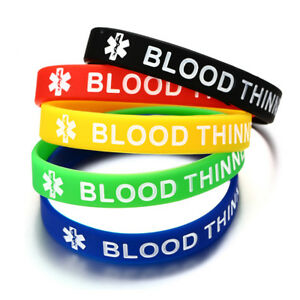 Lot 5 Colors Engrave Medical Alert Women Men Silicone Bracelet Wristband Bangles
