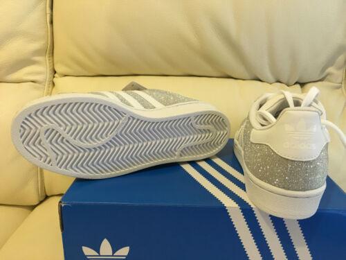 Adidas Originals Superstar Glitzer Glanz Turnschuhe Alle Größen UK 3 4 5 6 7