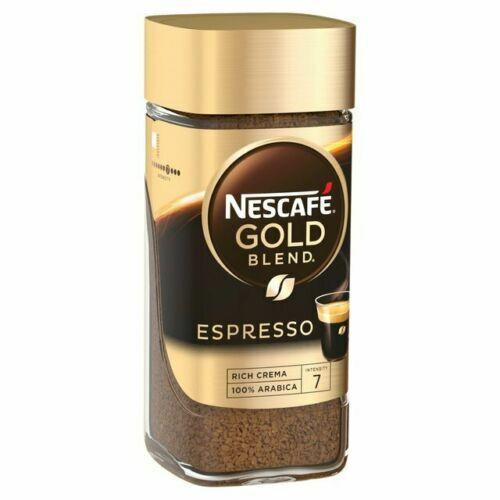 100g NESCAFE GOLD ESPRESSO Blend instant coffee crema arabica coffee