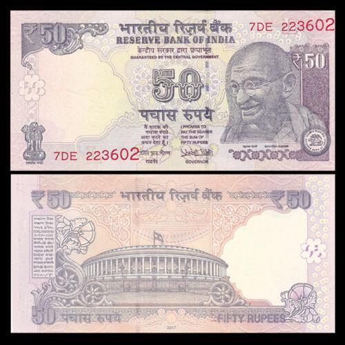 UNC India 50 Rupees 2017 P-104 New