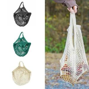 Mesh-Shopping-Bags-Cotton-Eco-Friendly-Tote-String-Foldable-Reusable-Grocery-New