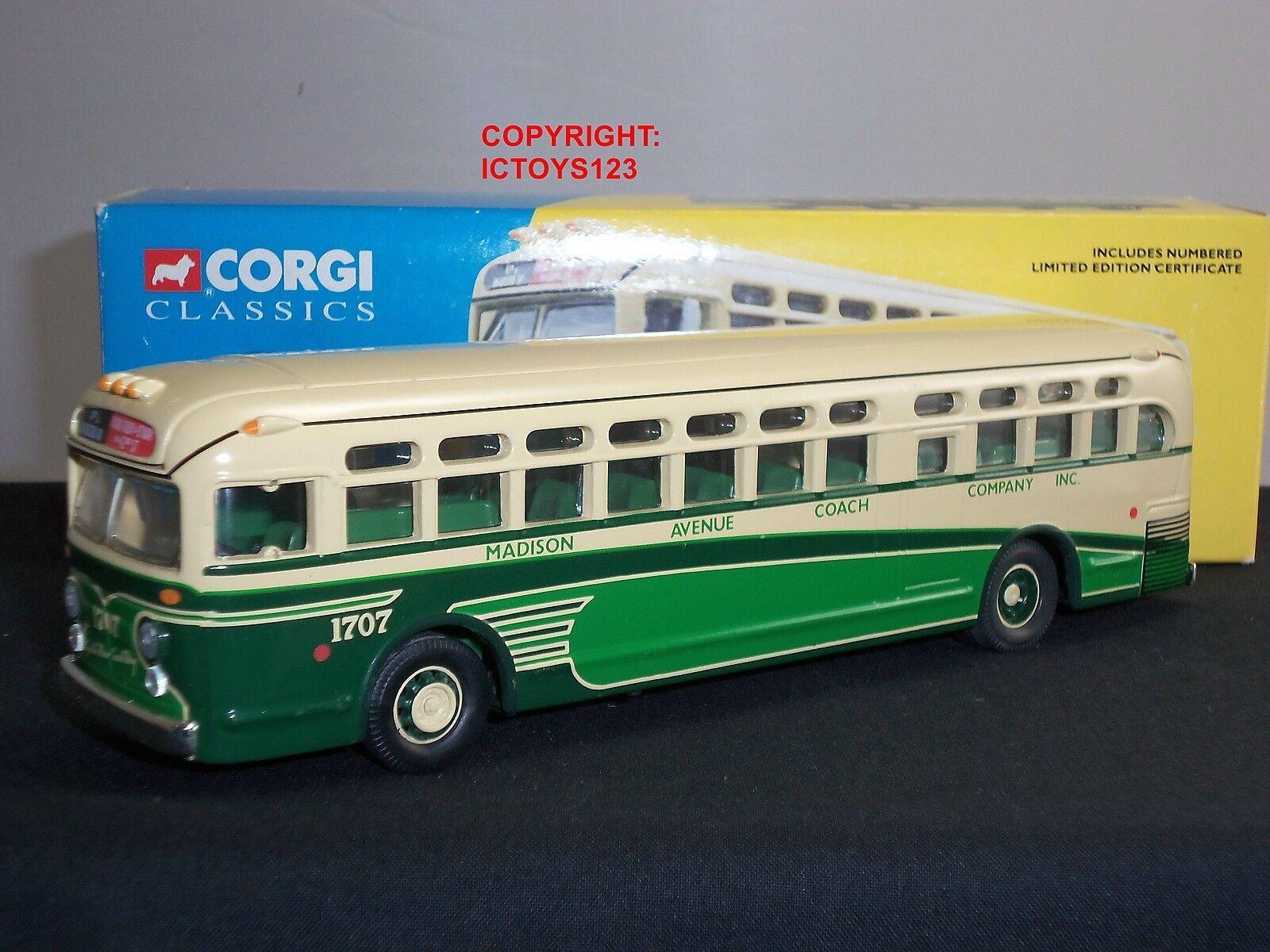 Corgi 54002 Madison Avenue de Nueva York GM4506 Modelo Diecast entrenador de bus Americano