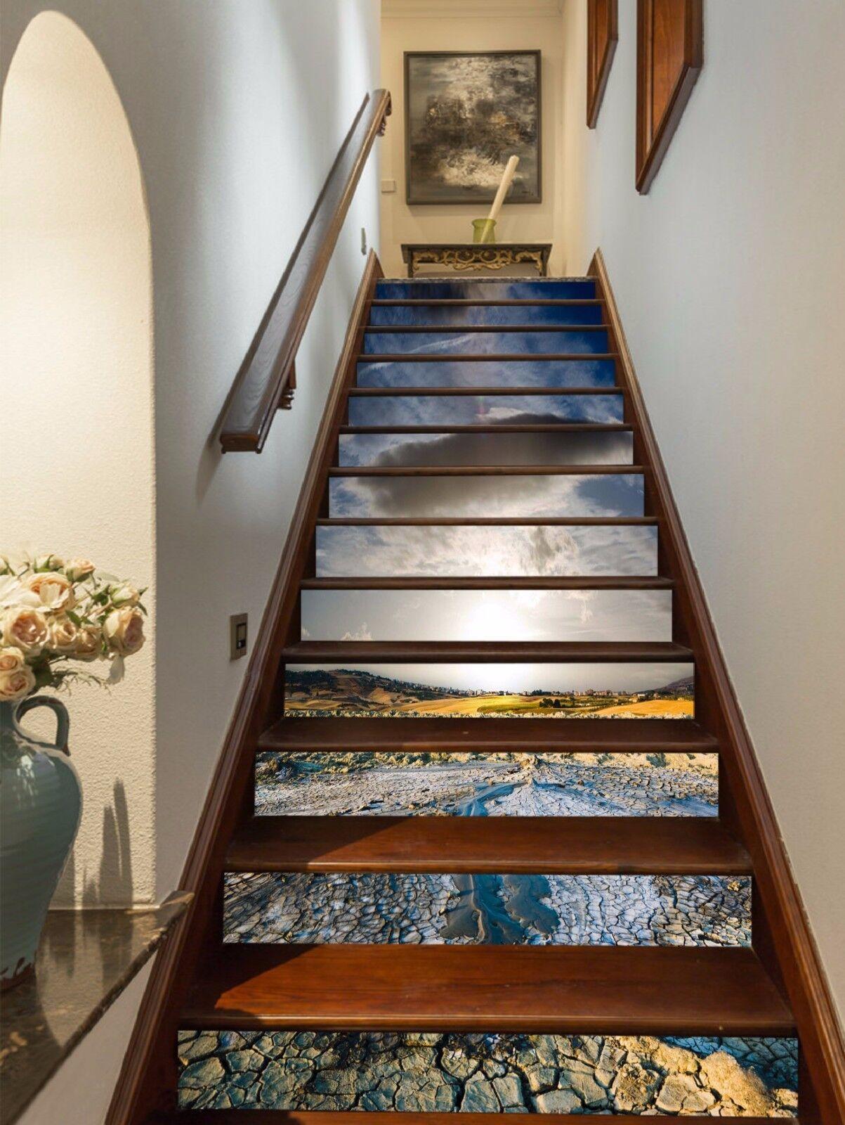 3D Drought Land 514 Stair Risers Decoration Photo Mural Vinyl Decal Wallpaper UK