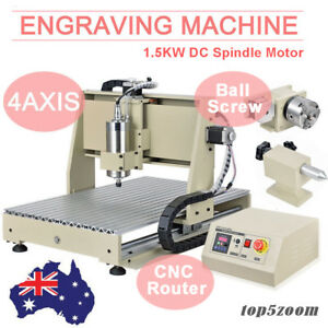 USB 4Axis 1.5KW CNC6040 Router Engraver Engraving Drill Carving Machine DESKTOP