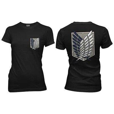 Attack On Titan Survey Corps Logo Anime Licensed Woman Junior Shirt S-XL
