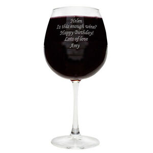 Extra Large Wine Glass Holds A Whole Bottle Of Wine Red