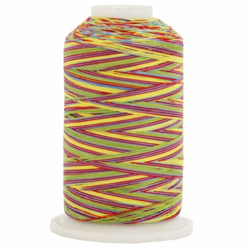 22 COLORS AVAILABLE VARIEGATED MULTICOLOR 100/% COTTON THREAD 600M BY THE SPOOL