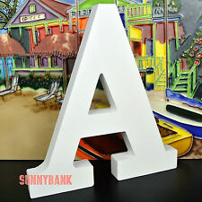21cm Large White Wooden Letter Wood Letters Alphabet Name Wedding Home Decor A-Z