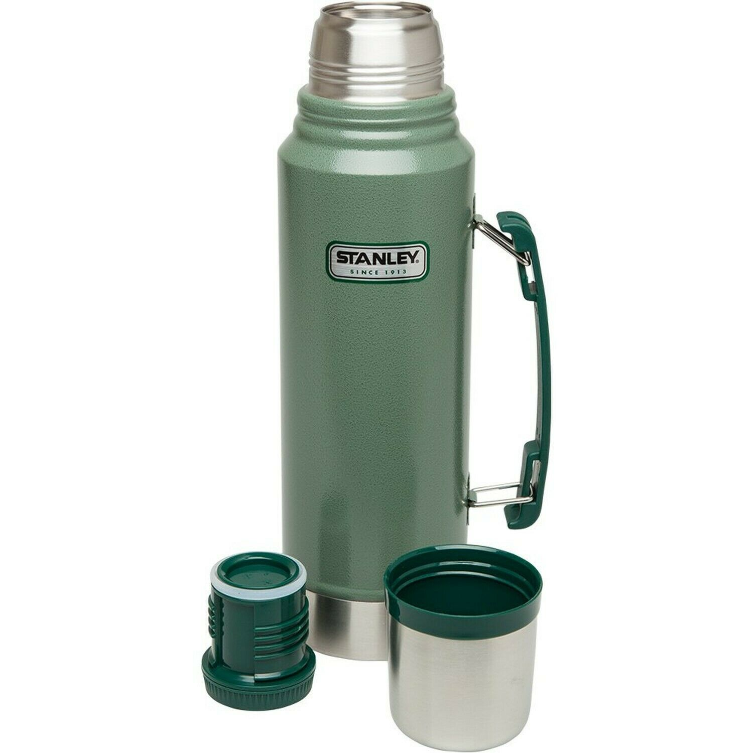 New STANLEY CLASSIC 1L Vacuum Insulated GREEN Flask Thermos Bottle