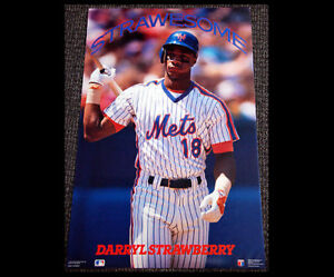 Details about Darryl Strawberry STRAWESOME New York Mets Costacos Brothers  1990 MLB Poster