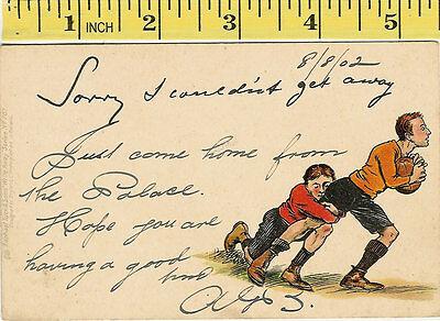 Tuck/'s /'Oilette/' Postcard of Puppies in Barn