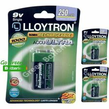 3 x Lloytron 9V PP3 Rechargeable Battery 250 mAh 6LR61