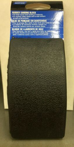 NORTON ABRASIVES 07660743140 RUBBER HAND SANDING BLOCK NEW MADE IN INDONESIA