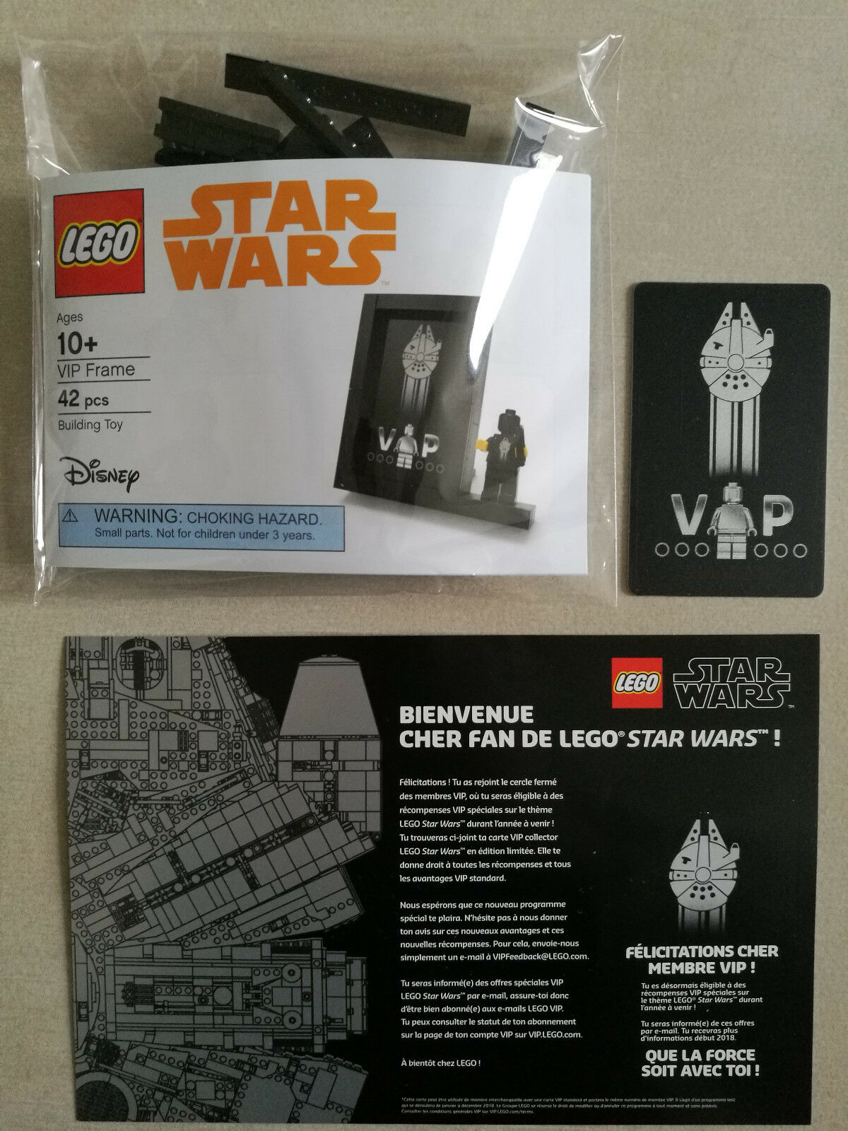 LEGO Star Wars VIP Card Frame 5005747  VIP Card - FR - NEW - SEALED - LIMITED