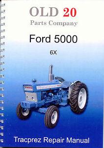 ford 5000 6x workshop manual ebay rh ebay com au ford 5000 workshop manual ford 5000 workshop manual