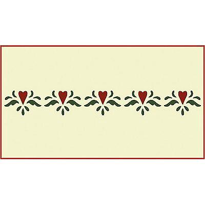 Hearts Border Stencil Stencils