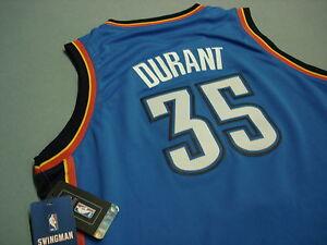 a1e888c08 Adidas Swingman KEVIN DURANT OKC Thunder Jersey YOUTH LARGE Sewn NEW ...