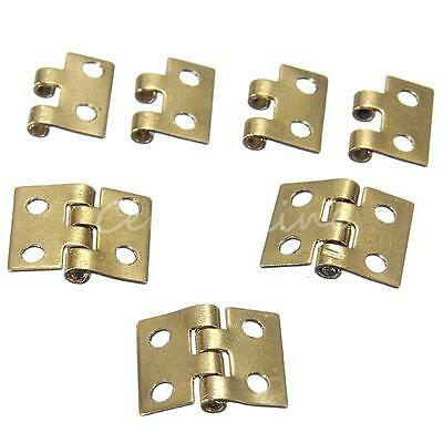 5X Mini Metal Hinges for Dollhouse 1/12 Small Cabinet Drawer Miniature Furniture