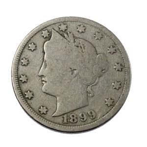 Piece-de-Collection-Etats-Unis-5-Cents-Liberty-Nickel-1899-USA