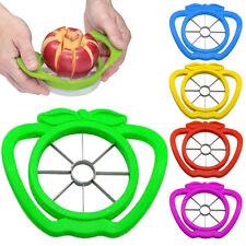Apple Pear Fruta Pelador Rebanador Cortador de Acero Inoxidable Cocina Ware X 1 Rojo o Azul