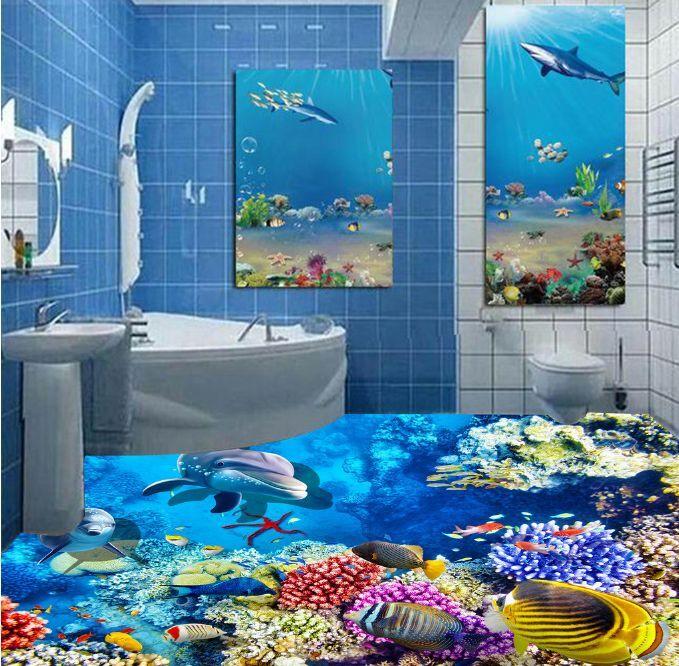 3D Various Animals Ocean Floor WallPaper Murals Wall Print Decal 5D AJ WALLPAPER