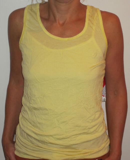 """Fjällräven"""" Jean Tanque Top"""" [ Talla S ] Camiseta Mujer Amarillo Nuevo y Emb."""