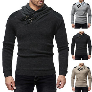 Mens-Coat-Jacket-Outwear-Sweater-Winter-Slim-Warm-Sweatshirt-Jumper-Pullover-Top