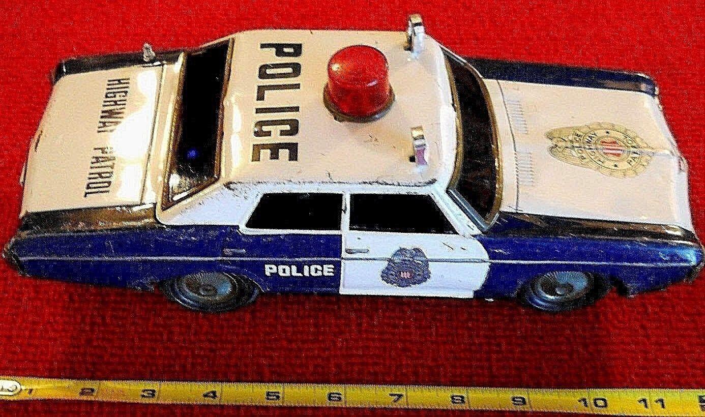 Década de 1960 Con Pilas Japón Japón Japón Tin Chevrolet patrulla carretera coche de policía 11  Juguete  bienvenido a comprar