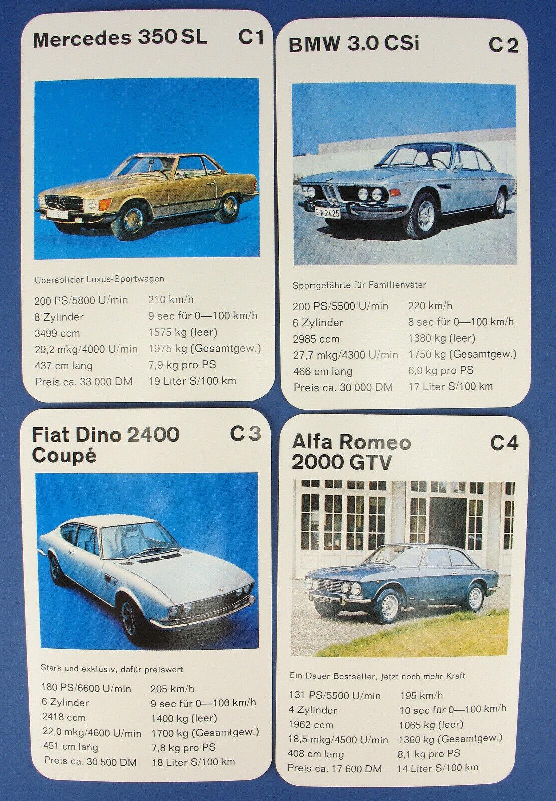 Quartett - Sportwagen Test - Opel GT - ASS ASS ASS Nr. 3262 - 1972 - Auto Quartettspiel 14c69f