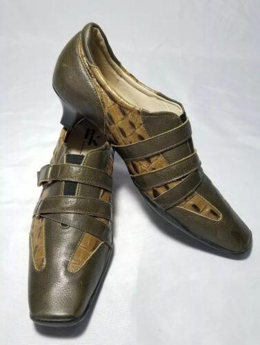 sports shoes 9260a 89461 PETER KAISER PK Women's Shoes Loafers Green Alligator Croc ...
