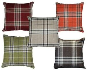 Stunning-Large-Tartan-Cushions-Reversible-FILLED-CUSHIONS-Chunky-Plump-floor-bed