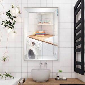 Image Is Loading Large Flat Mounted Wall Mirror Beveled Rectangle Vanity