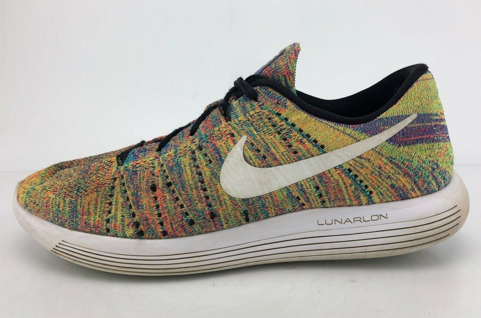 4a17a0fbc3 Nike Lunarepic Low Flyknit Running shoes Multicolor Fitness Sneakers Mens  Sz 12