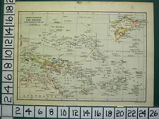 1915 WWI WW1 MAP GERMAN COLONIES IN THE PACIFIC OUTBREAK OF WAR 1914 NEW GUINEA