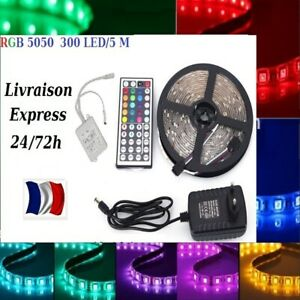 1-30m-Bande-LED-Strip-RGB-Lumiere-Ruban-5050-SMD-60-LED-M-Telecommande-24-72H