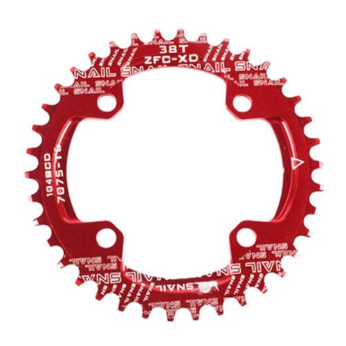 Fahrradkettenblatt 104 BCD Schmales breites Kettenblatt für Rennrad,